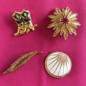 Lot of 4 Multifarious Brooches